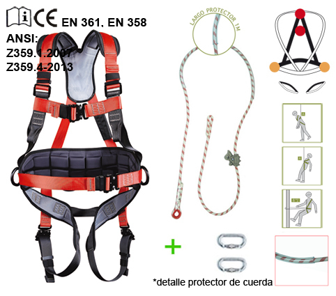 Arnés de seguridad KIT4