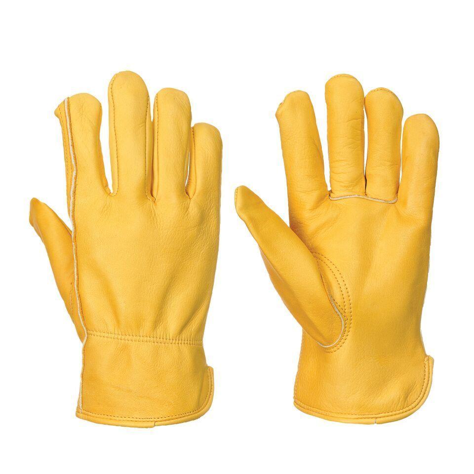 Guante piel flor vacuno forrados guantes de trabajo ferrolabor for Guantes de piel madrid